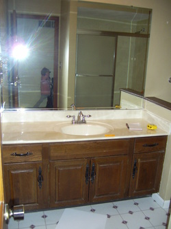 How To Update Bathroom Cabinets Sink & Vanity Updating  Chicly Cheap Home Decor