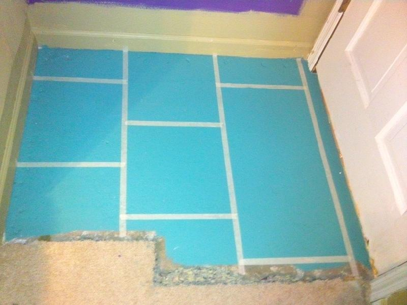 Painting Concrete Floors Chicly Cheap Home Decor